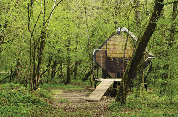 CJWHO ™ (forest pod retreats la noisette + le nichoir by...) #design #landscape #wood #photography #architecture #nature #trees