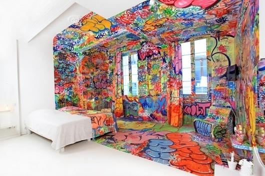 Panic Room - BIGADDICT #white #house #graffiti #art #room