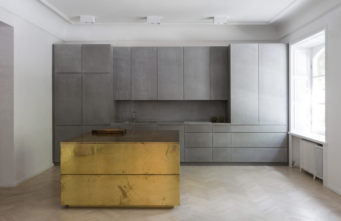 Gold & Gray Apartment