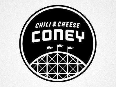 Dribbble - CONEY by Matt Stevens #cheese #branding #coney #hipster #chili #logo