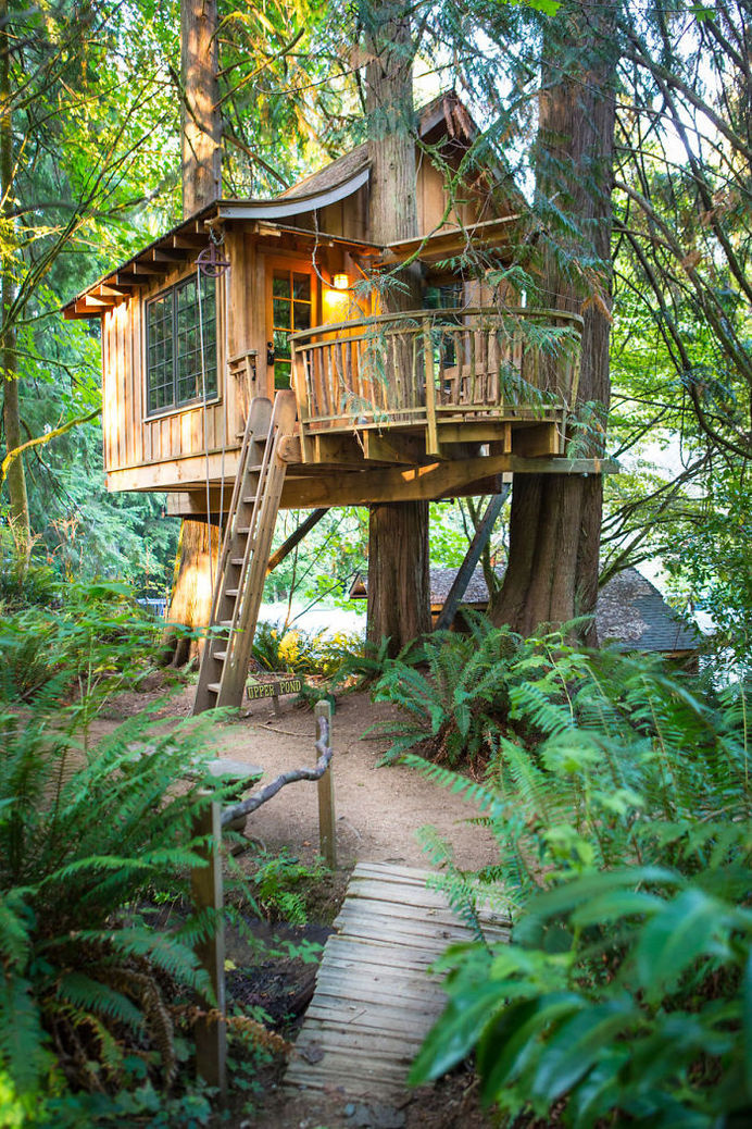 Upper Pond Treehouse In Issaquah, Washington. #treehouse