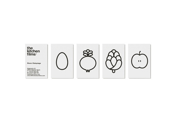 The Kitchen Films on the Behance Network #business #branding #card #fruit #illustration #kitchen #identity #typography