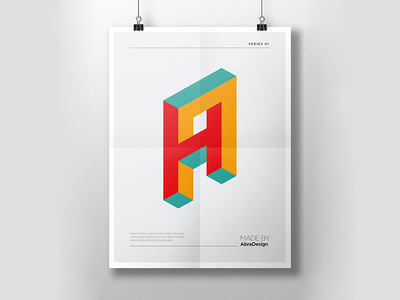 3D Alphabet Logo Letters You can download it here: http://graphicriver.net/item/3d-alphabet-logo-letters/13450625?ref=abradesign #font #ty