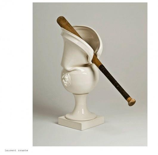 JJJJound #vase #controversial #ceramics #baseballbat #design #dutch