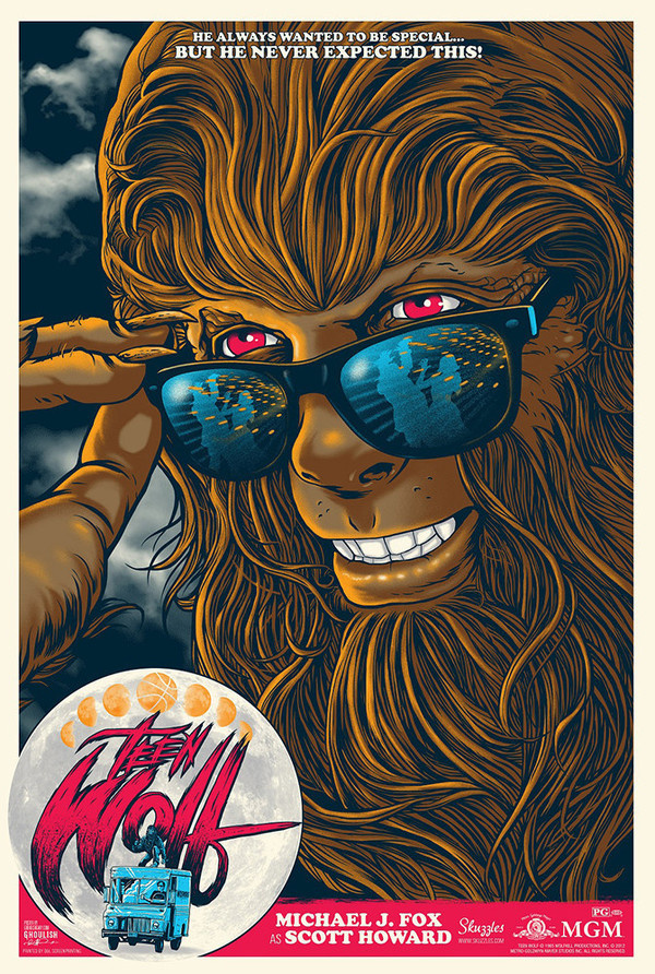 Teen Wolf movie poster #movie #vector #teen #illustration #poster #wolf