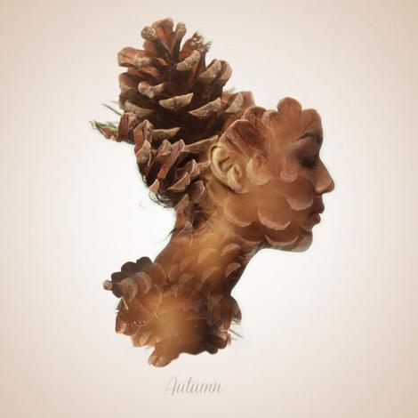 Alon Avissar #profile #woman #girl #cone #head #photography #pine #face #collage #lady #beauty