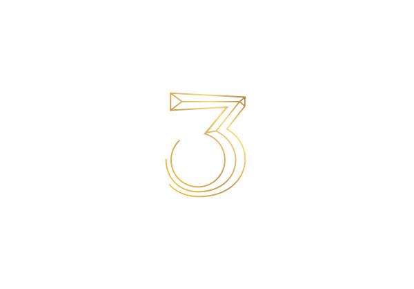 VOL II LOGOS on Behance #branding #design #logo #brand #number #gold #three #type