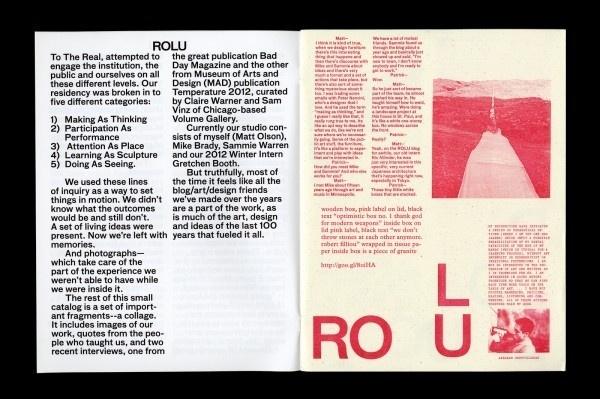 A ROLU Reader #rolu #grandry #furniture #layout #editorial #pieterjan