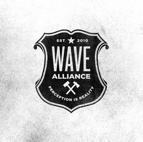 Fly By Night #badge #alliance #crest #wave #identity #axe #logo