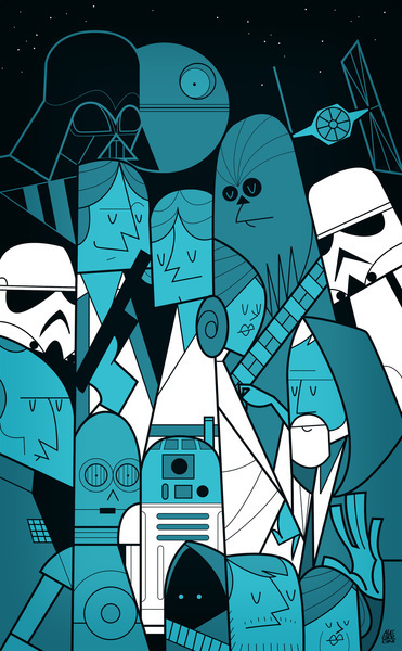 Star Wars Art Print #illustration #abnormale #wars #star