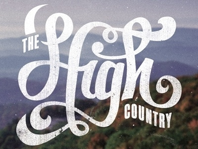 Dribbble - Boone, NC by Zack Davenport #typography