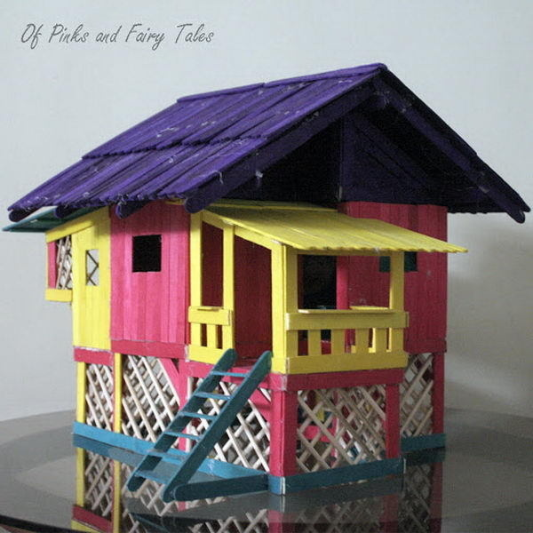 Best Popsicle Stick Homemade House Crafts images on