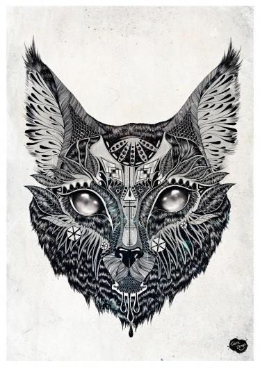 tumblr_lzt4x8JL5x1qbu4lvo1_1280.jpg (JPEG Image, 1280×1811 pixels) #zegers #feline #cat #illustration #animals