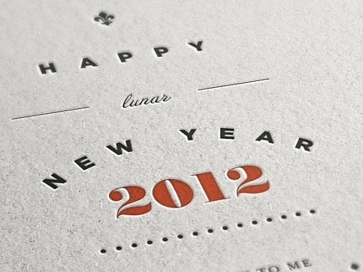 Happy Lunar New Year on the Behance Network #lunar #year #2012 #typography #lee #wonchan #typographic #chinese #rmit #melbourne #poster #new