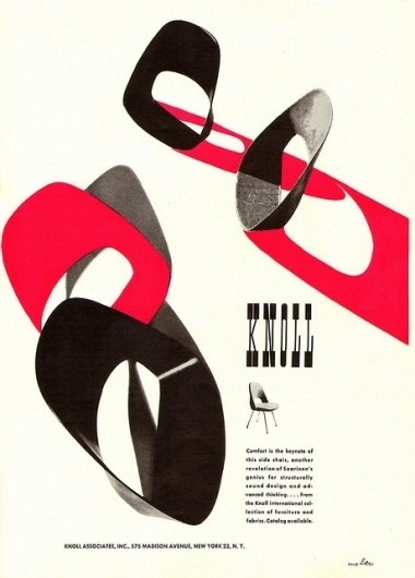 All sizes | Knoll Ad 1952 | Flickr - Photo Sharing! #1950s #design #graphic #industrial #poster