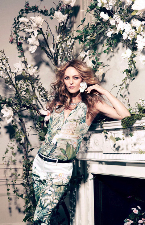 Vanessa Paradis by Camilla Akrans for H&M Conscious Collection #fashion #model #photography #girl