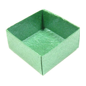 How to make a traditional origami box (http://www.origami-make.org/howto-origami-box.php)