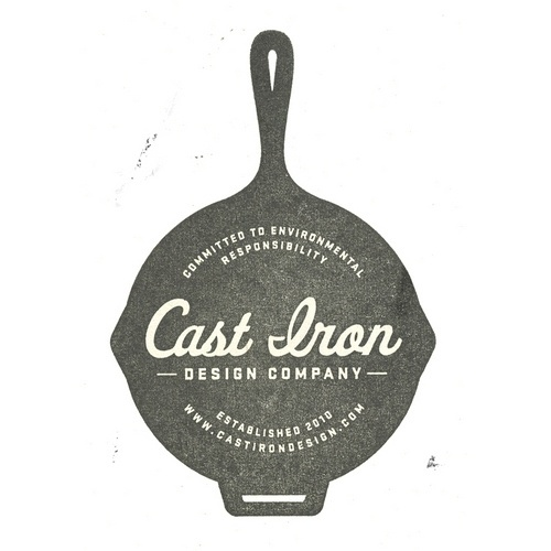 Cast Iron Design Company Logo Stamp #design #iron #identity #logo #cast
