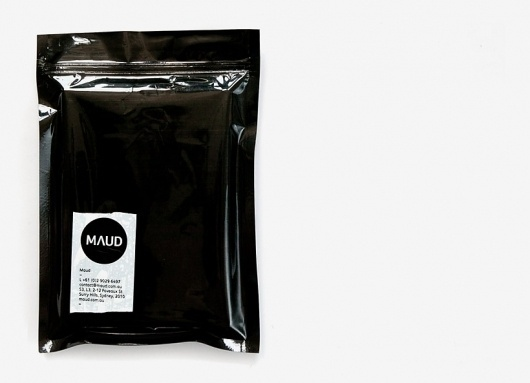Hampus Jageland #tape #white #packaging #maud #black #and #mailer
