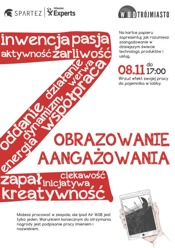 Z Poster #lettering #red #white #poster #poland