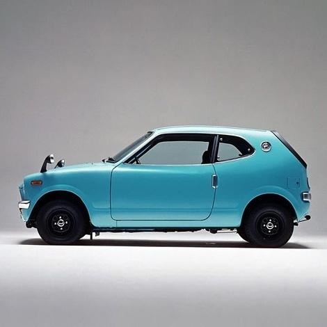 iainclaridge.net #blue #car #1970 #honda