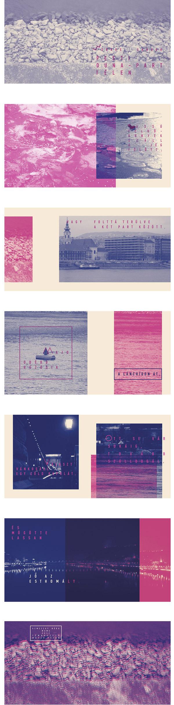 WEÖRES 100 on Behance #photo #layout #duotone