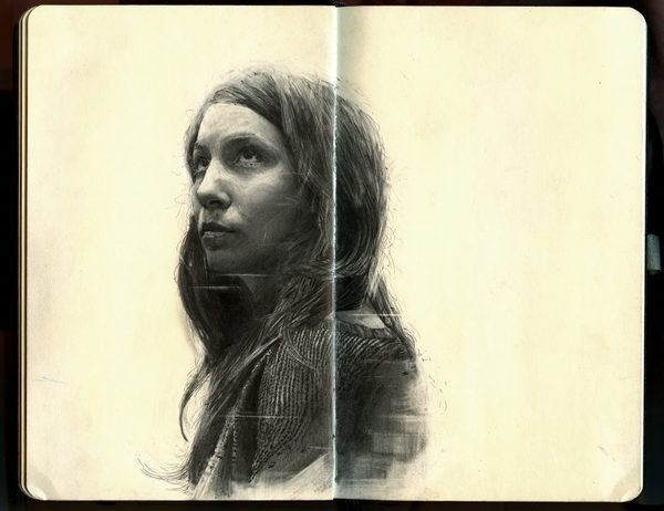 Graphite Portraits of Friends by Thomas CianJanuary 8, 2014