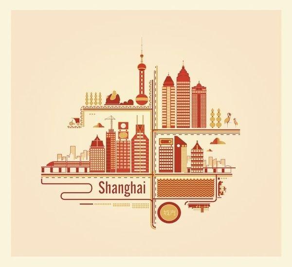 Shanghai Digital Illustration #digital #illustration #china #shaghai