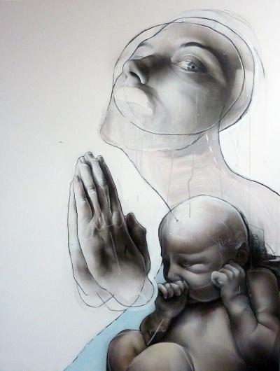 All sizes | Annunciation | Flickr - Photo Sharing! #urban #graffiti #best #ever #portrait #spraypaint #art #street