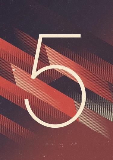 Marius Roosendaal's Portfolio #marius #design #graphic #retro #roosendaal #five #poster