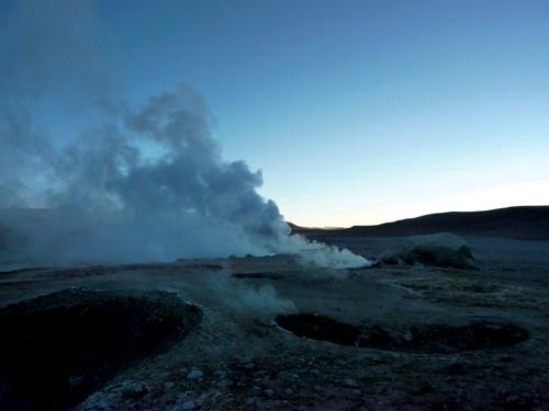 360 jours #bolivia #smoke #geyser #photo #uyuni #salar