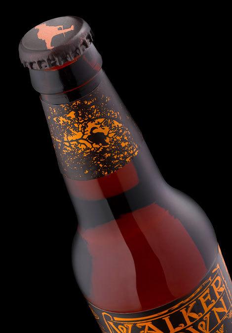 Walker Brown Beer Label #packaging #beer #label #bottle