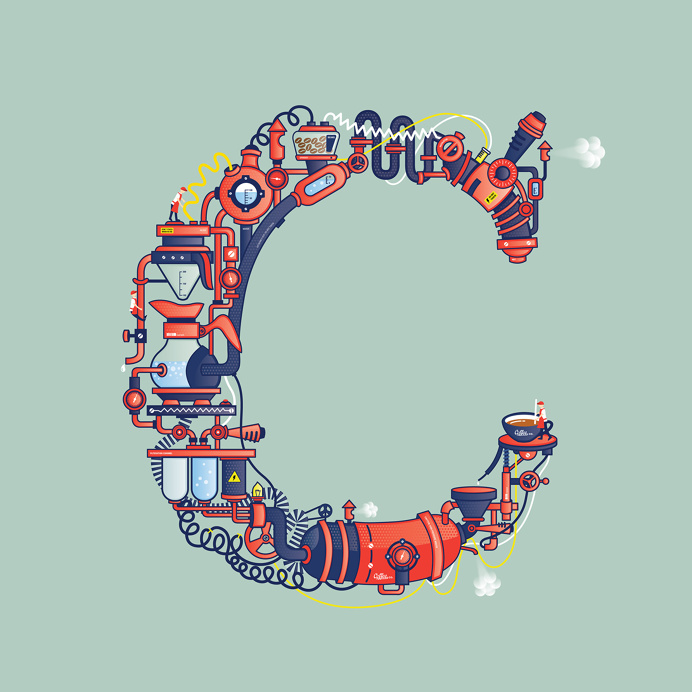 Coffee C - Illustrated on Behance