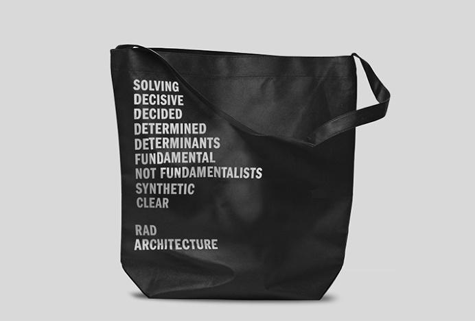 RAD by Studio Mjölk #graphic design #black and white #bag
