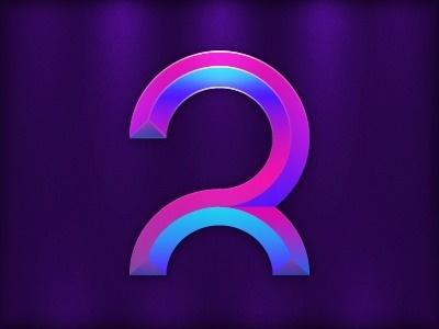 Dribbble - Purple / Pink / Blue Logo by Robert Padbury