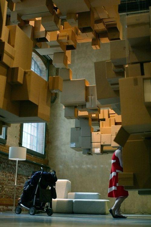 Cardboard Cloud #installation #art #cardboard