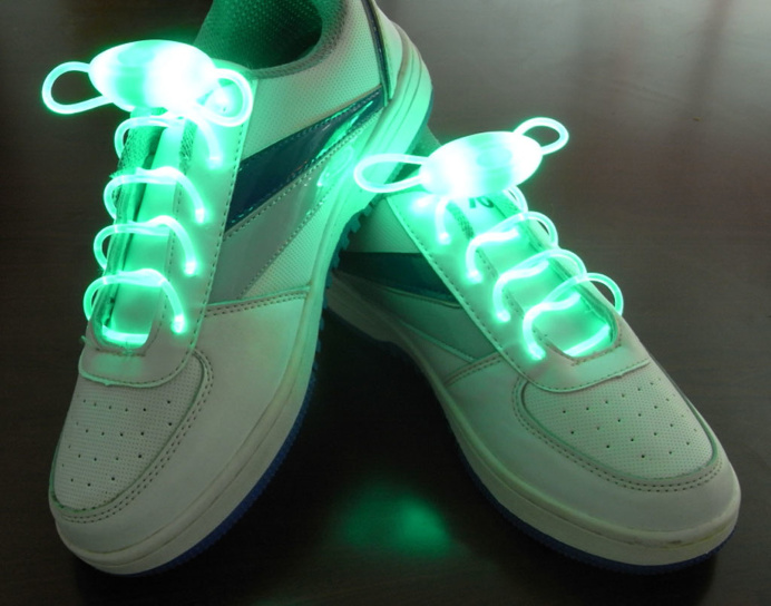 Green Flammi LED Shoelaces Light Up Shoe Laces