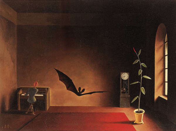 Franz Sedlacek Song in the Twilight, 1931 | Flickr Photo Sharing! #bat #illustration #piano