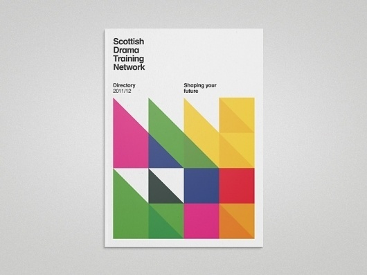 Scottish Drama Training Network | Gridness #print #booklet #swiss