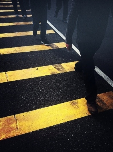All sizes | Queen Victoria Market, Melbourne | Flickr - Photo Sharing! #yellow #road #people #melbourne #pedestrians #crossing #australia #feet
