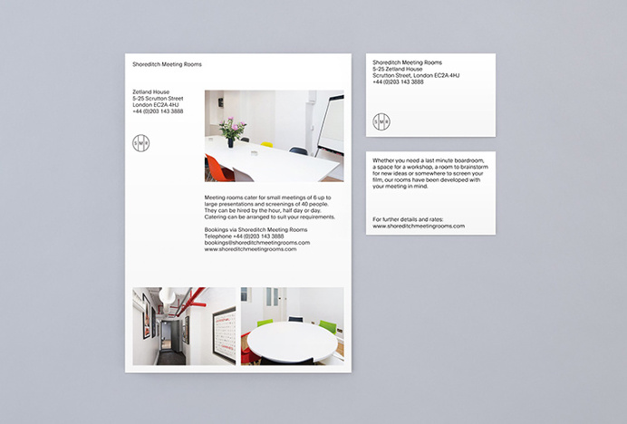 Shoreditch Meeting Rooms by Bunch #stationary #business #card
