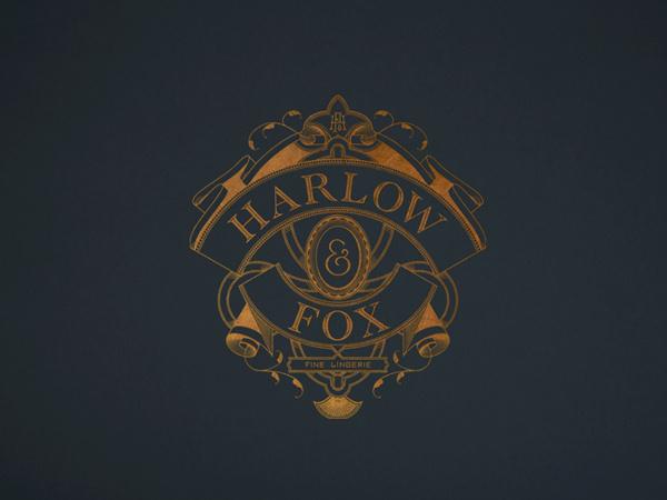 Harlow & Fox by Oat   #monogram #logo #shield #identity