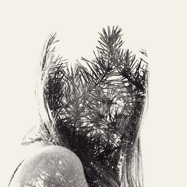 multiple exposure nature portraits by christoffer relander 02 #multiple #photography #exposure