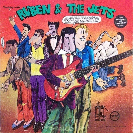 Cruising with Ruben & The Jets | Flickr - Photo Sharing! #album #doodle #zappa #cover #illustration #humor