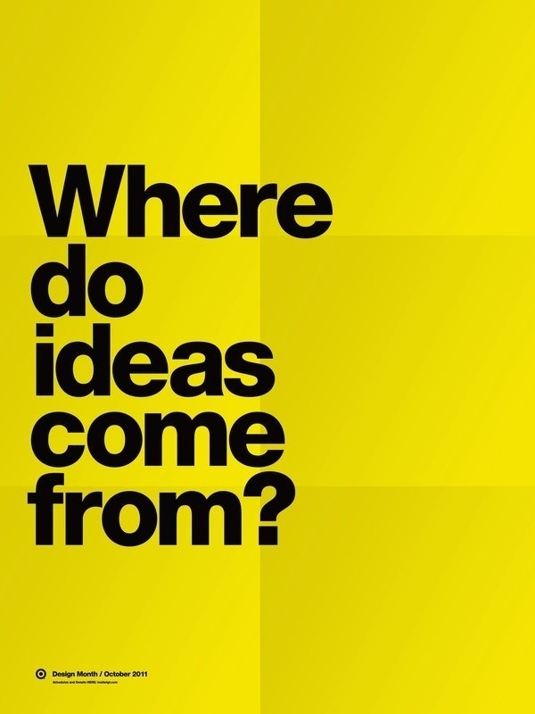 Where do ideas come from? #type #minimal