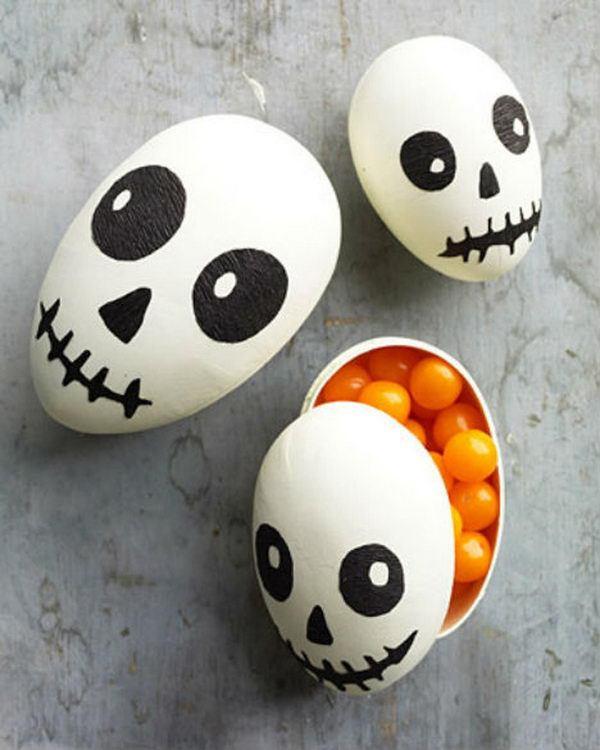 Easter Egg Skull Halloween Treat Box #egg #favor #box #easter #diy #treat