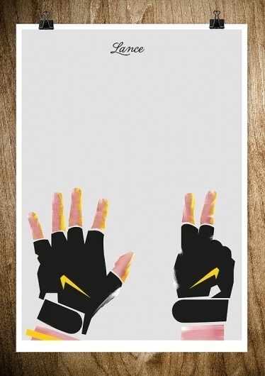 LANCE - Rocco Malatesta Posters & Prints #design #graphic #rocco #malatesta #armstrong #illustration #poster #hands #lance