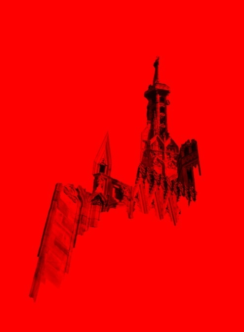 Yellow Blue Red on Behance #duomo #milan #red