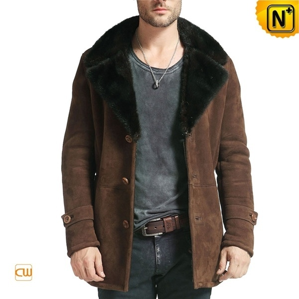 Leather Sheepskin Coat Men CW877039 #sheepskin #men #coat