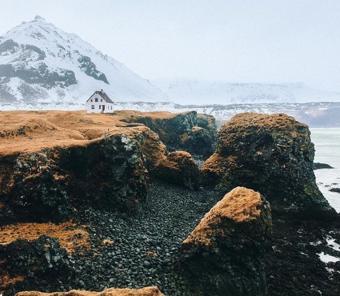 Icelandic beach house